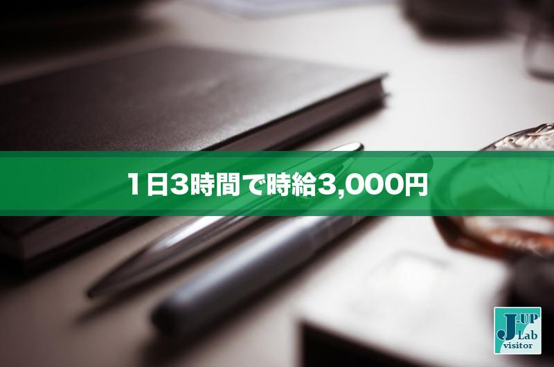 ブログ開始!1日3時間で時給3,000円を得るノウハウ!時給アップ研究室ブログ開始